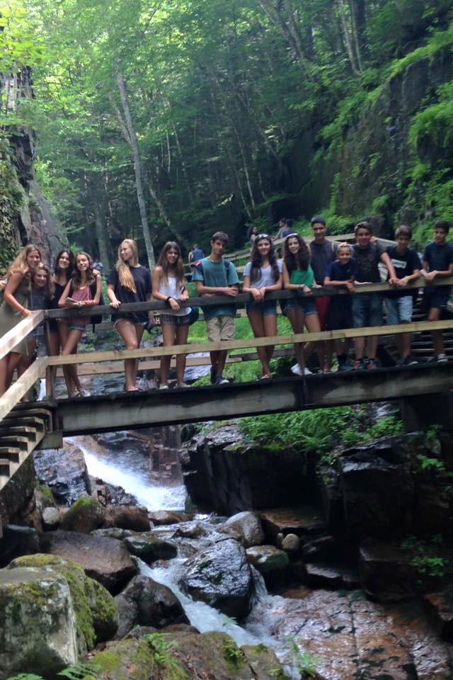 waterfall kids