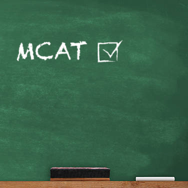 MCAT written on chalkboard